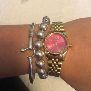 Authentic Gold and Pink Michael Kors MK3270 Watch